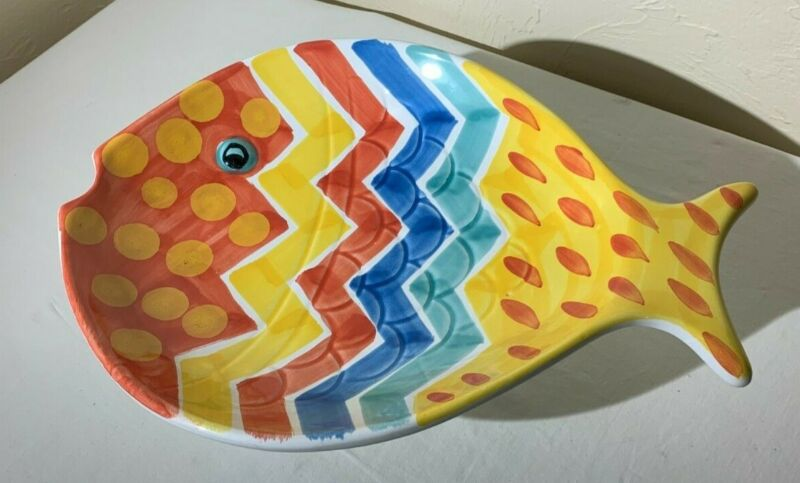 """Fish Platter./ Bellini Piu made in Ital. 15"""" x 11"""" x 2"""". Well cared for."""