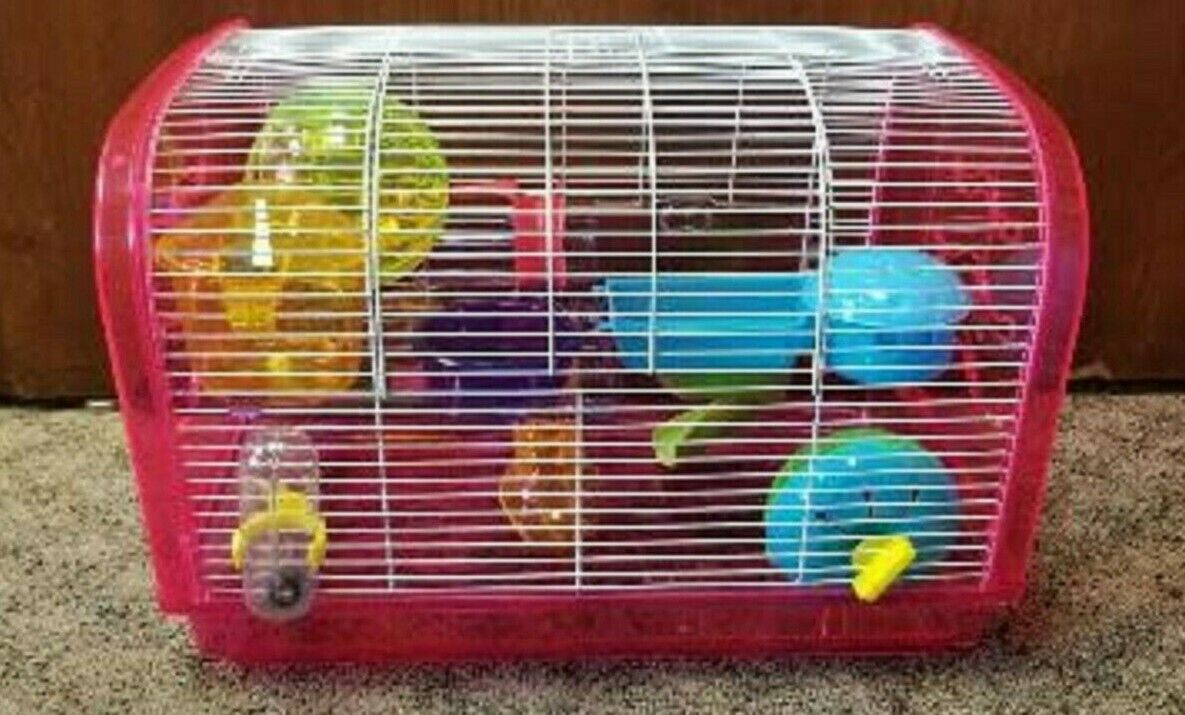 H1812A DWARF HAMSTER CAGE. SO MANY FUN ACTIVES FOR YOUR HAMS