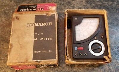 Vintage Monarch Model Mt-2 Volt Ohm Meter Iob