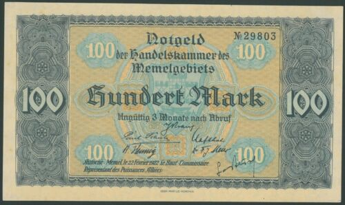 MEMEL 1/2, 1, 2, 5, 10, 20, 50, 75, 100 Mark (1922) Lithuania Germany Klaipeda