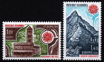 Andorra-Fr. 290-91 **, CEPT 1978-Baudenkmäler