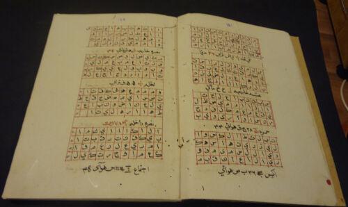 ARABIC MANUSCRIPT KASHFO ALHERAK IBN ARABI 1224 AH (1809 AD): (OCCULT):