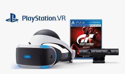 BRAND NEW Sony PlayStation VR Gran Turismo Sport Bundle w/ PS4
