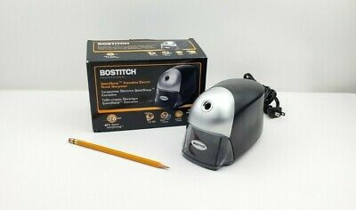 Bostitch Quietsharp Executive Electric Pencil Sharpener Black Eps8hd-blk
