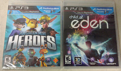 PlayStation Move Heroes & Child of Eden(Sony PlayStation 3, 2011) Child of Eden ](Baby Hero Games)
