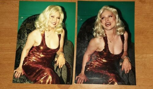 BLONDIE - DEBRA HARRY 2 COLOUR GLOSSY PHOTOS!!  EXTREMELY RARE!!
