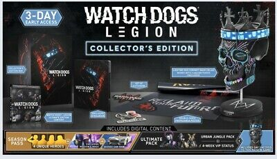 Watch Dogs Legion Collectors Edition (Playstation 4, 2020) PS4 Brand New Presale for sale  Shipping to Nigeria