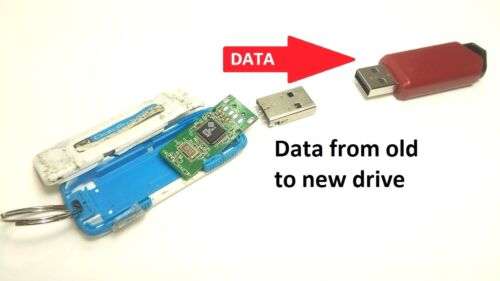 Repair Service Broken USB thumb/flash drive soldering data recovery to new drive