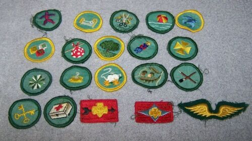 Merit Badges Girl Scout Vintage Mix Lot of 20 Sew on Patches