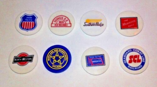 Vintage Railroad Magnets Lot of 8 Train Union Pacific Southern Wabash SCL