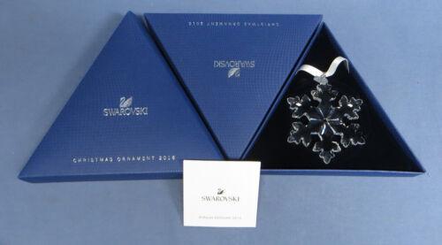 Swarovski 2016 Annual Snowflake Ornament Mint in Box with Slip Cover