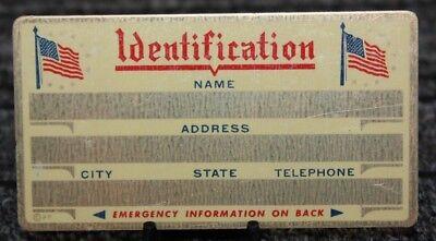 Metal Identification Id Card Custom Engraved 10chj