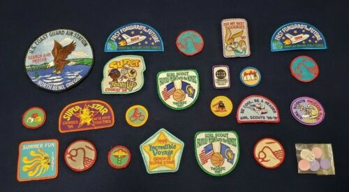 Lot Of 24 Girl Scout Patches Badges Vintage