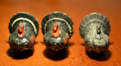 Britain Lead Cast 3 Turkeys Very Good Condition 1940