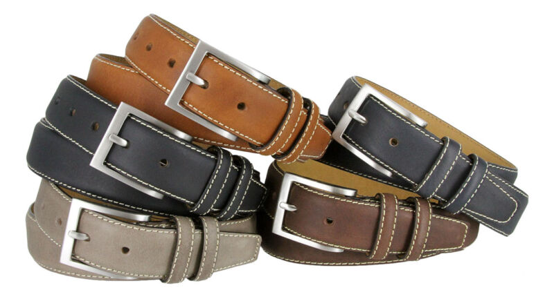 """Classic Genuine Leather Office Career Dress Business Belt 1-3/8"""" Wide Size 32-46"""