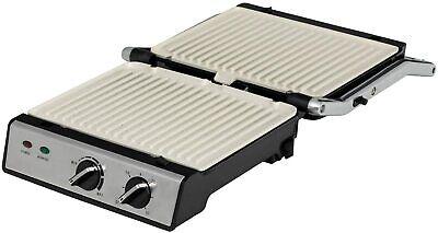 IKOHS Stone Grill Pro - Sandwichera Grill 2000 W Revestimiento Cerámica Gris