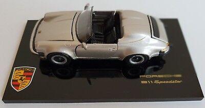 Porsche 911 Speedster, 1:43 silbermet. – Acrylplatte, NZG, Neu in OVP