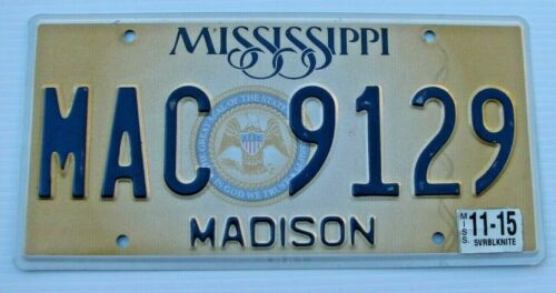 "MISSISSIPPI GRAPHIC AUTO LICENSE PLATE "" MAC 9129 "" BIG MAC MCNAMARA"