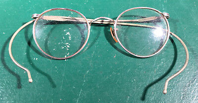 Vintage Wire Rimmed Round Glasses Silver Tone (Round Rimmed Glasses)