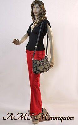 Female Full Body Mannequin Metal Stand Head Arms Turn Manikin-cf92wigs
