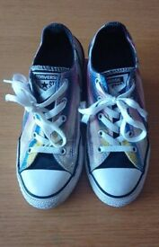 Converse size 2 multicoloured stripe