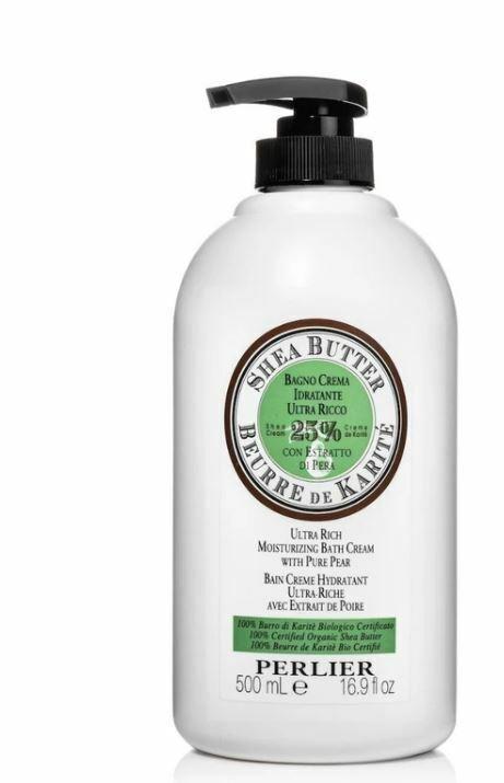 PERLIER SHEA PURE PEAR Bath Cream 16.9 oz Pump Bottle - NEW & SEALED