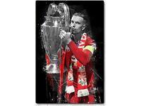 Liverpool football club metal plate poster
