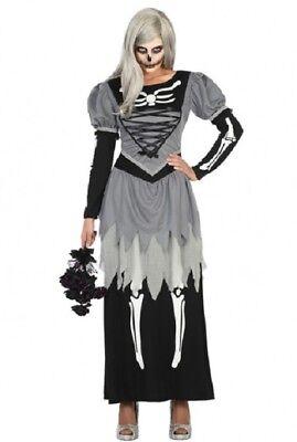 Déguisement GRIS NOIR Femme Mariée Zombie XS/S 36/38 - Mariee Zombie Kostüm