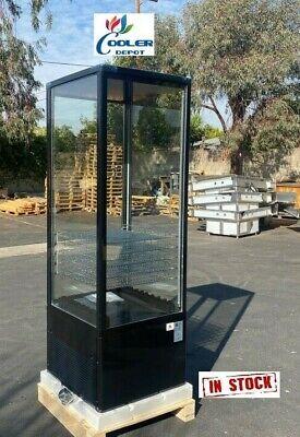 New 77 Upright Glass Refrigerator Cooler Food Beverage Display Merchandiser