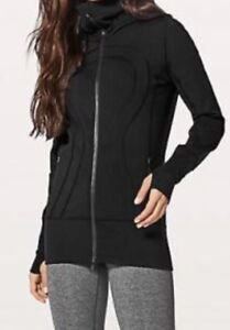 Lululemon black Stride Long Zip up Sweater Size L ❤️