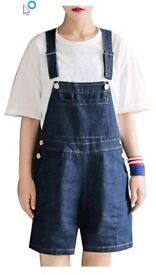 Ladies' dungaree shorts, size 16-18, new with tags, too small for me, unworn.