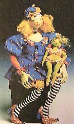 "HIP HATTIE & FAIRIE FRANNIE~Patti Medaris Culea 20"" *RARE cloth art doll pattern for sale  Shipping to India"