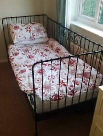 Single bed - ikea - wrought iron effect