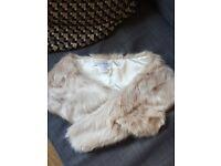Chesca Faux Fur Collar, Champagne Worn Once