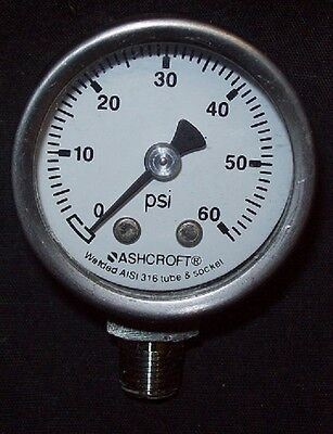 Restaurant Equipment Bar Supplies Ashcroft 60 Psi Aisi 316 Tube Socket Gauge