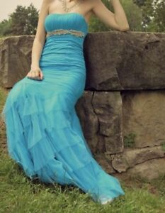 Aqua Mermaid Grad Gown