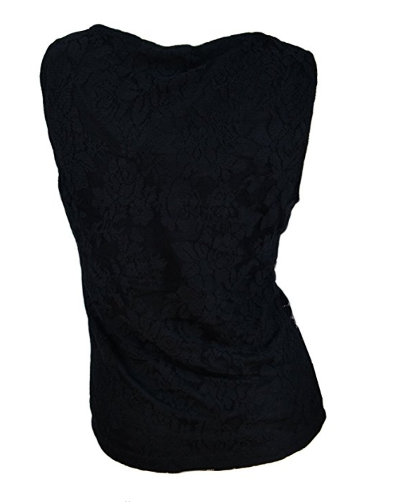 Rampage Womens Lace Top Blouse Tank Top Shirt NWT Black S Evening Party Club