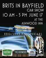 Brits in Bayfield Car Show!  In honour of Mr. MG