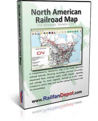 North American Railroad Map Version 3.11 for Windows - Software Railroad Atlas