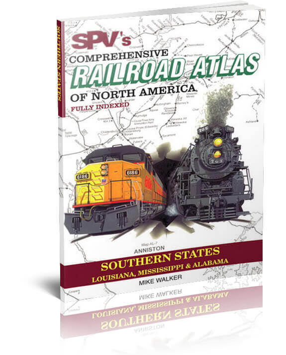 SPV Railroad Atlas Southern States - New, Latest Edition, Steam Powered Video