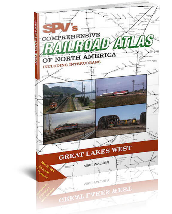 SPV Railroad Atlas Great Lakes West - New, Latest Edition, Steam Powered Video