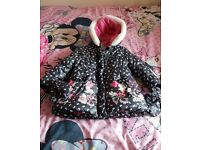Minnie Mouse girls coat age 3-4