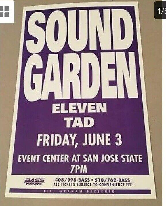 Soundgarden poster Chris Cornell San Jose 1994 Grunge Graham  Original Vintage