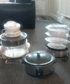 Halogen oven slow cooker and steamer