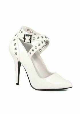 - Pleaser SEDUCE-443 5 Inch Crisscross Pump With Eyelet-Hole Punch