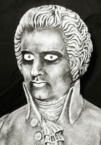 """HAUNTED Ghostly Gothic Bust """"EYES FOLLOW YOU"""" Mansion House Halloween Mozart"""