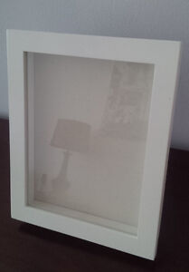 Enclosed Picture Frame with Blank Canvas Inside