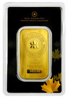 1 oz Lingot Or Pur Gold Bar Royal Canadian Mint .9999 MRC
