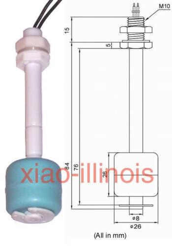 New Plastic Float Switch Liquid Water Level Sensor Fish Tank 100mm Pool L