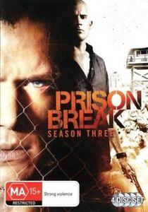 Prison Break : Season 3 (DVD, 2008, 4-Disc Set) Brand New Sealed